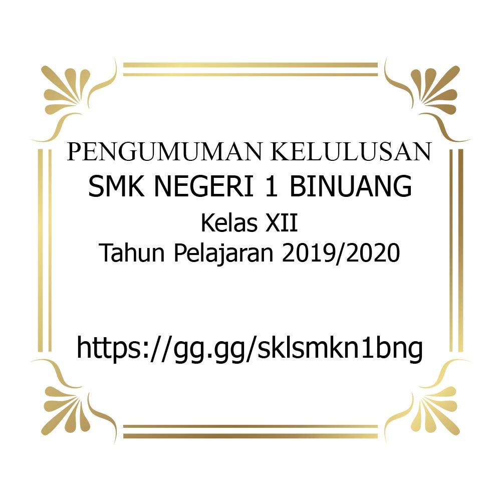 Pengumuman Kelulusan Peserta Didik Tahun Pelajaran 2019/2020